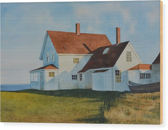 Top Of Monhegan Wood Print