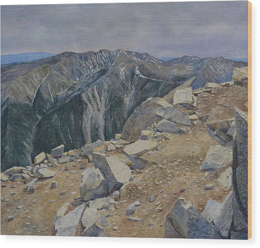 Top Of Mt. Princeton Wood Print