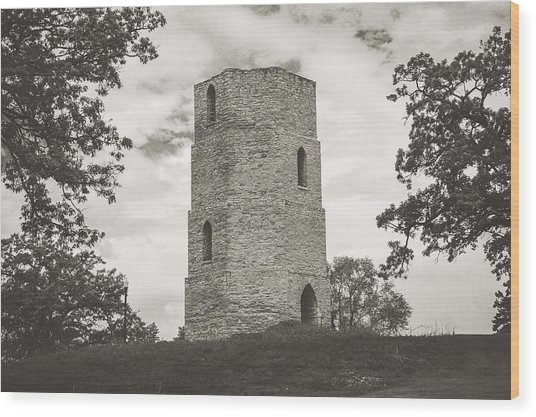 Wood Print featuring the photograph Top Of The Hill by Viviana  Nadowski