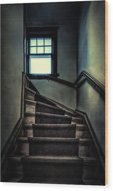 Top Of The Stairs Wood Print