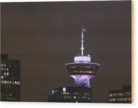 Top Of Vancouver Restaurant Wood Print