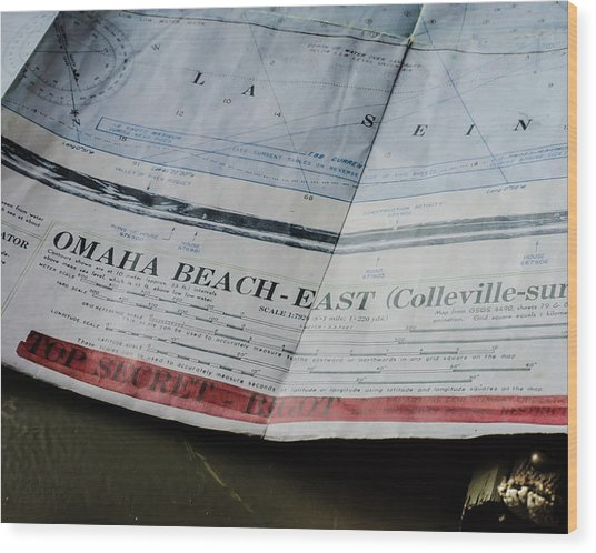 Top Secret - Omaha Beach Wood Print