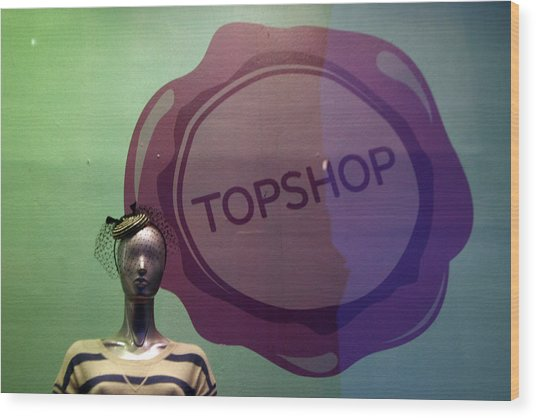 Top Shop Top Me Wood Print by Jez C Self