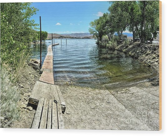 Topaz Landing Boat Launch Wood Print