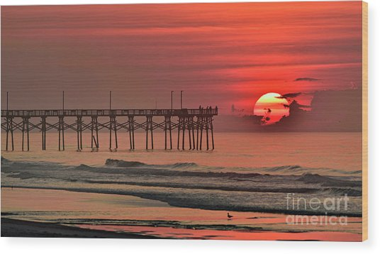 Topsail Moment Wood Print