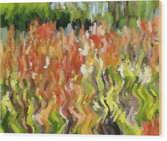 Torch Lilies Wood Print