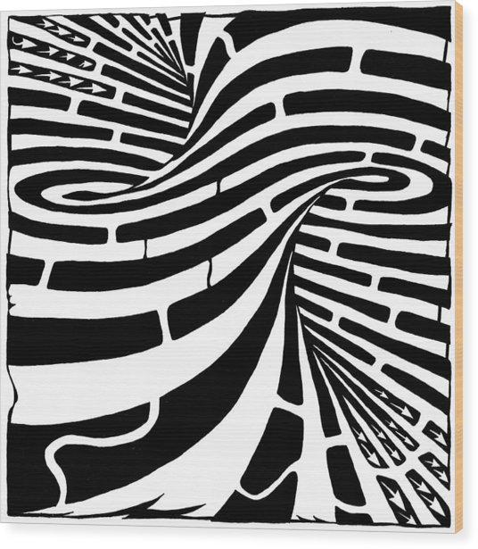 Tornado Maze Wood Print by Yonatan Frimer Maze Artist