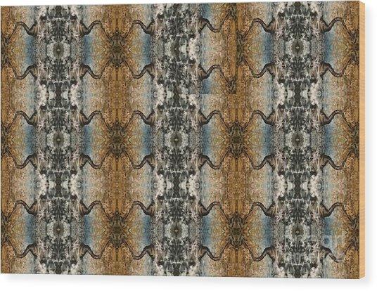 Tornado Pattern Wood Print