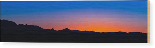 Tornillo Sunset Wood Print