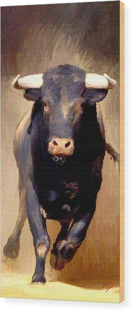 Bull Toro Bravo Wood Print