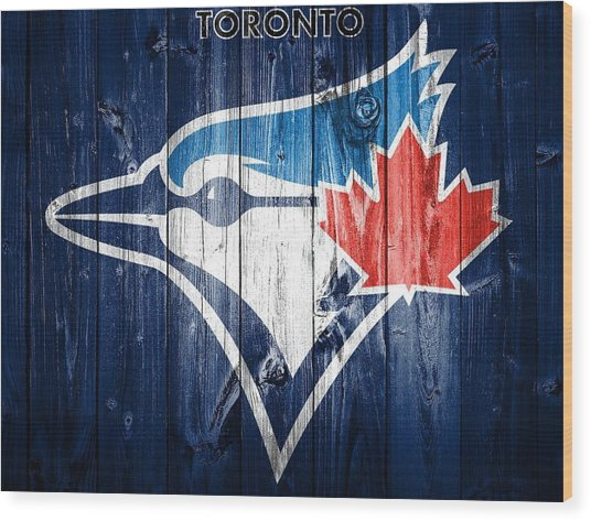 Toronto Blue Jays Barn Door Wood Print