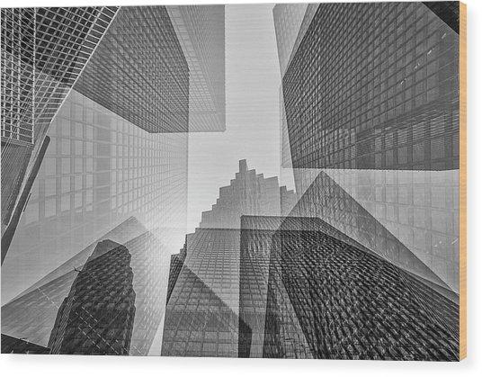 Toronto Financial District Wood Print