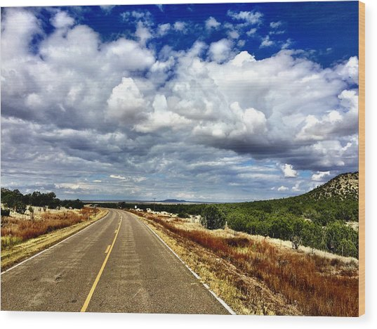Torrance County Clouds Wood Print