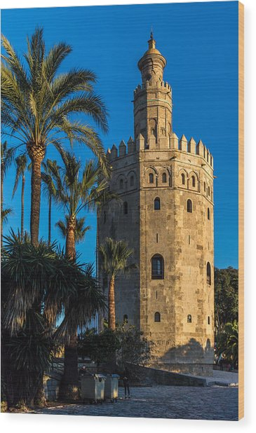 Torre Del Oro Sevilla Spain Wood Print