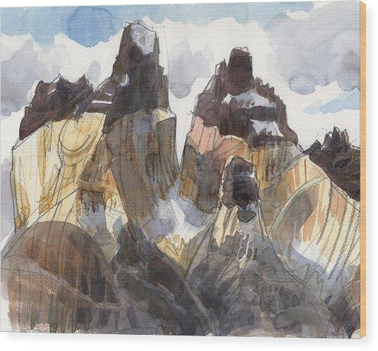 Torres Del Paine, Chile Wood Print