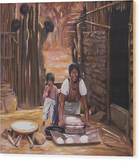 Tortillas De Madre Wood Print