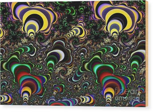 Torus Spirals Wood Print