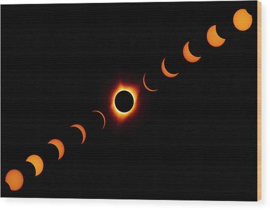 Total Eclipse 2017 Wood Print