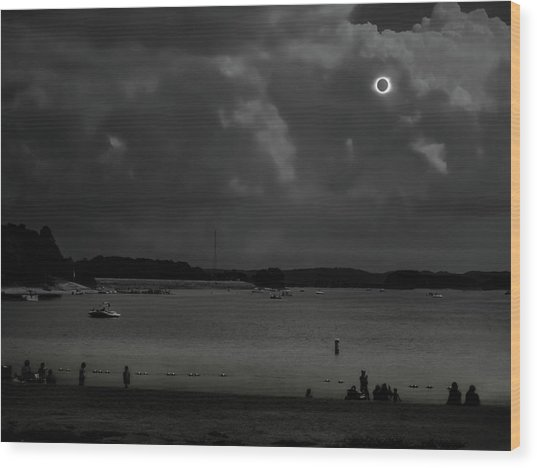 Total Solar Eclipse At Clemson Wood Print