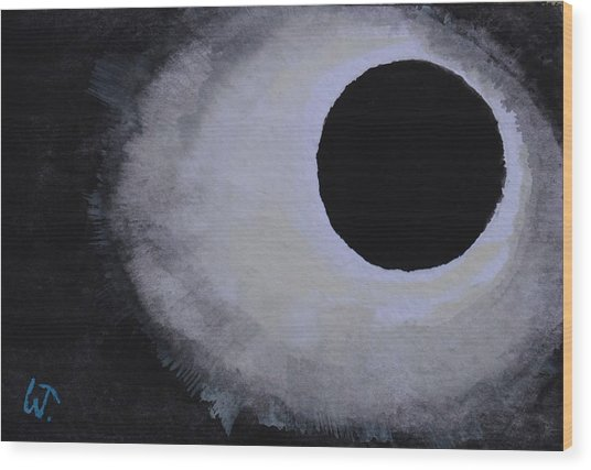 Total Solar Eclipse Wood Print