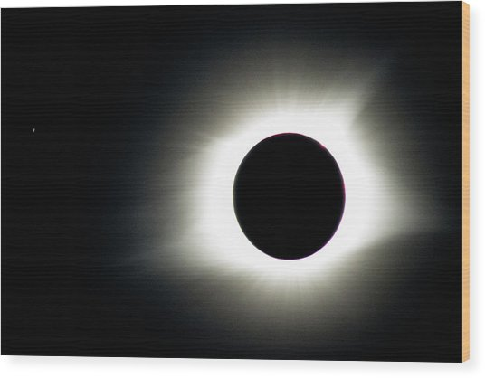 Totality And Mercury Wood Print