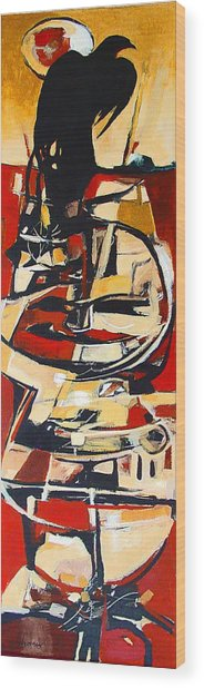 Totem Wood Print by Dale  Witherow