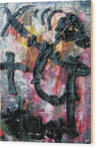 Totentanz - Dance Of Death No. 4 Wood Print