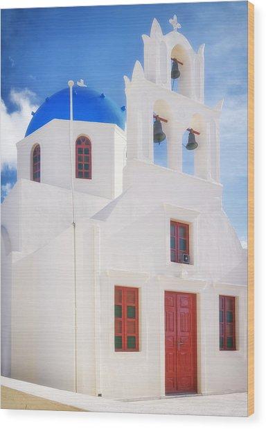 Tou Stavrou Church Santorini Wood Print
