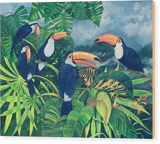 Toucan Talk Wood Print