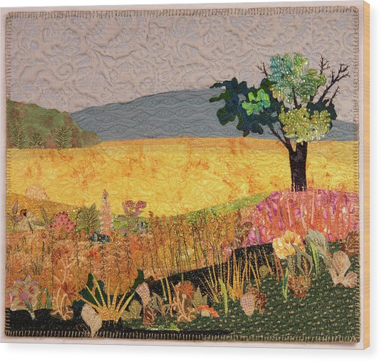 Touch Of Goldenrod Wood Print