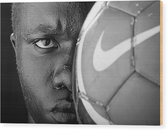Tough Like A Nike Ball Wood Print