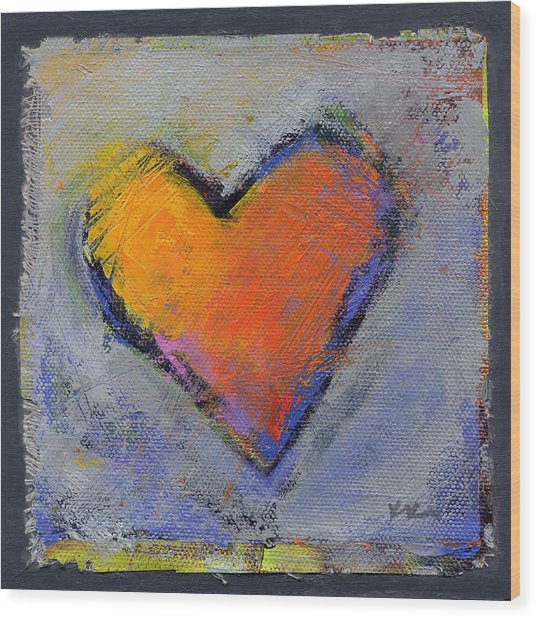 Wood Print featuring the painting Love 6 by Konnie Kim