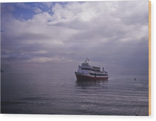 Tour Boat San Francisco Bay Wood Print
