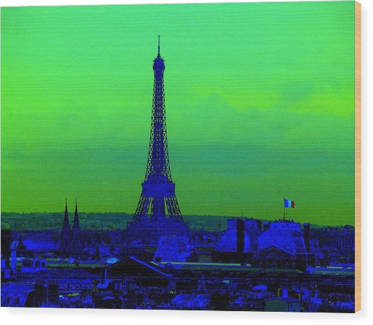 Tour Eiffel Wood Print by Aline Kala
