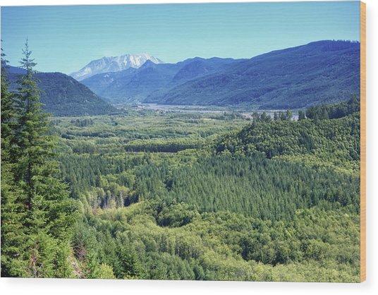 Toutle Valley, Wa Wood Print