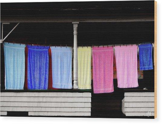 Towel Line Stark New Hampshire Wood Print