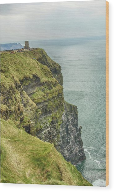 Tower At The Cliffs Of Moher Wood Print