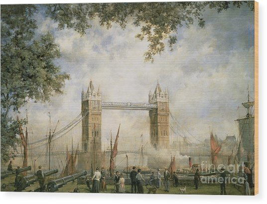 Tower Bridge - From The Tower Of London Wood Print