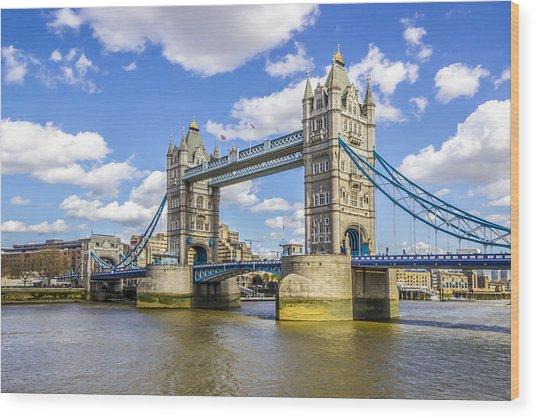 Tower Bridge Wood Print by Angela Aird