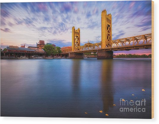 Tower Bridge Sacramento 3 Wood Print