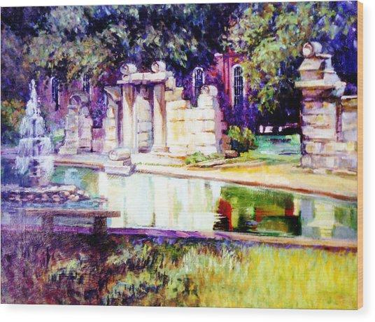 Tower Grove Park Wood Print