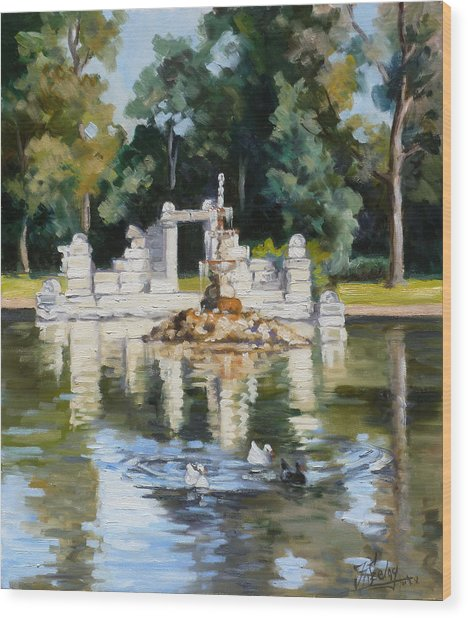 Tower Grove Park St.louis Summer Wood Print