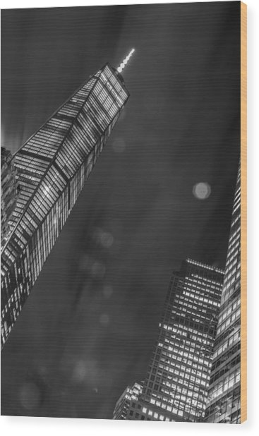 Tower Nights Wood Print