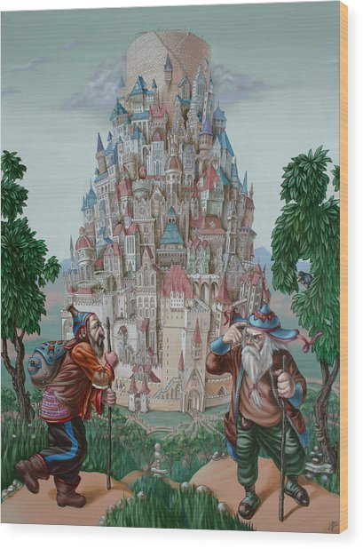 Tower Of Babel Wood Print