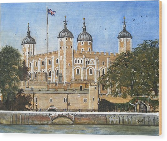 Tower Of London Wood Print by Carol Williams