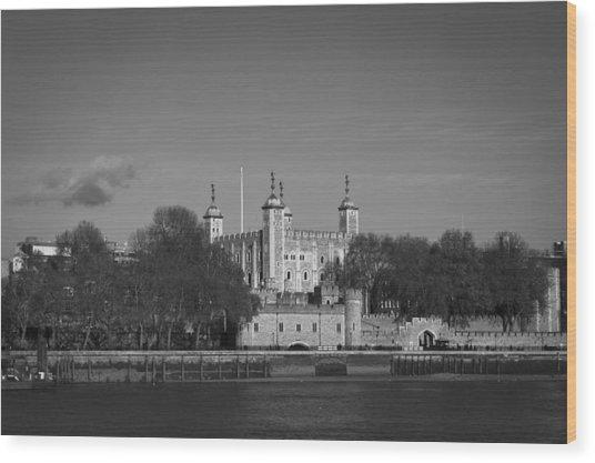 Tower Of London Riverside Wood Print