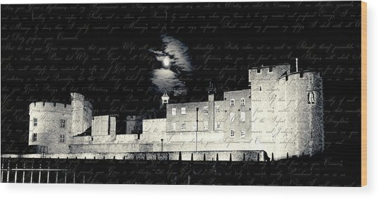 Tower Of London With Letter From Anne Boleyn Wood Print