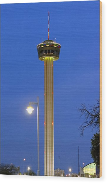Tower Of The Americas Wood Print