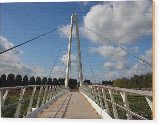 Towering Bridge Wood Print