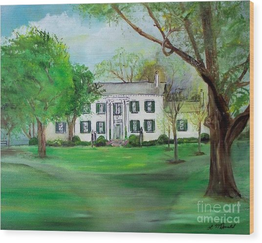 Town And Country Farm Lexington Wood Print by Lynda McDonald